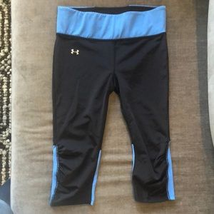 Under Armour Fly By Compression Capri Like New